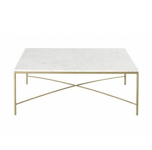 mesa de centro marmol blanco