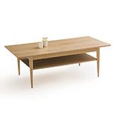 mesa de centro de madera de fresno