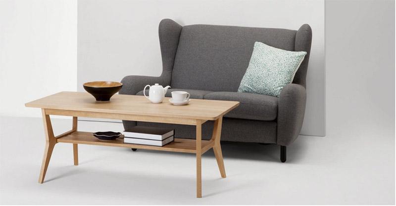 mesas de centro de madera de estilo nórdico