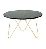 mesa de centro redonda de marmol