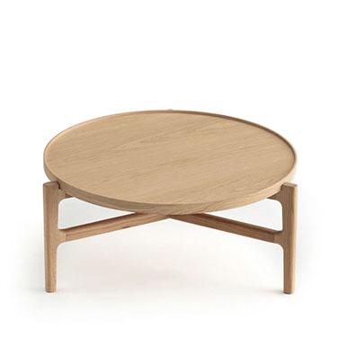 mesa baja redonda diseño y estilo nórdico
