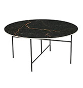 mesa baja redonda estilo nórdico