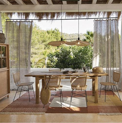 mesa rustica de madera comedor