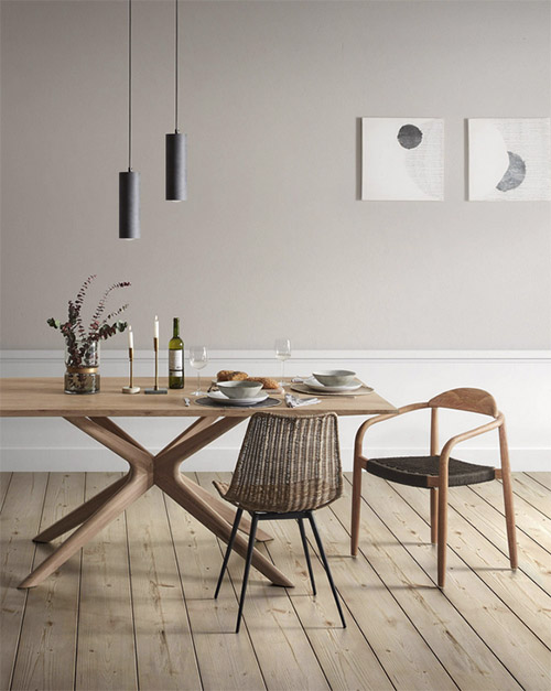mesa de comedor nórdica