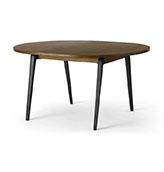 mesa de comedor extensible de madera y metal