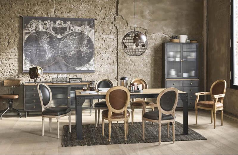 mesas de comedor extensibles de estilo industrial