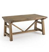 mesa de comedor extensible de madera de estilo rústico