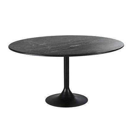 mesa de mármol negra redonda