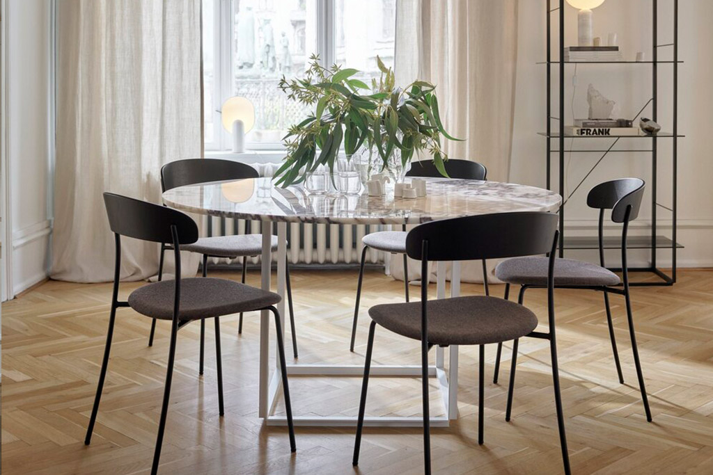 mesa de comedor de mármol