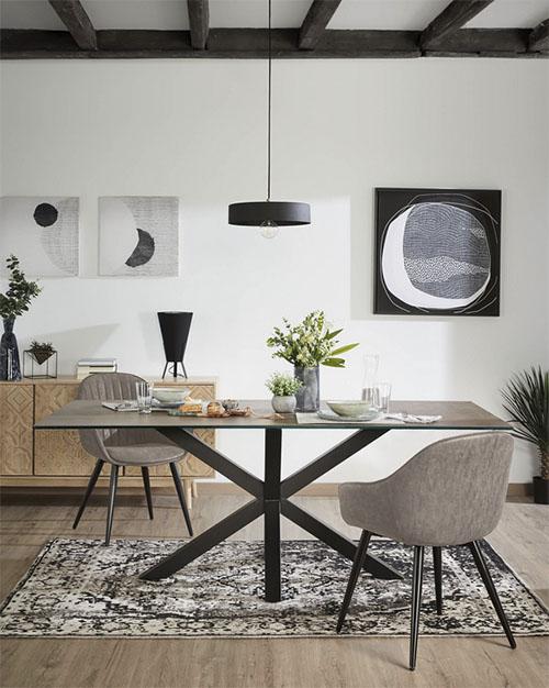mesas y sillas para la decoración de comedores