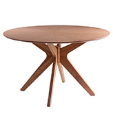 mesa redonda de comedor de diseño escandinavo
