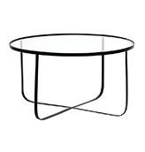 mesa baja redonda de cristal