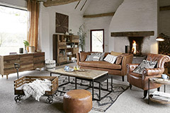 mesas de centro de madera estilo industrial