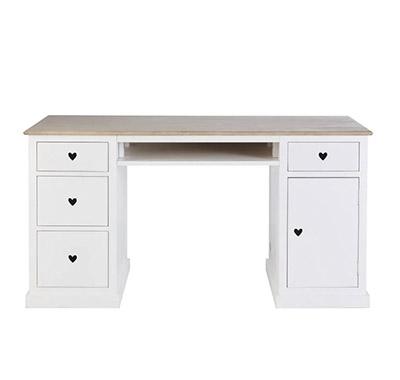 escritorio rústico blanco de madera