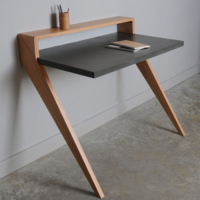 Escritorio de madera de diseño
