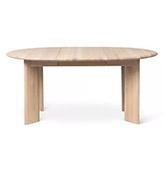 mesa extensible de madera natural