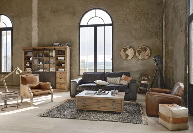 muebles de estilo industrial para decorar un loft