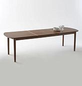 mesa larga de madera extensible