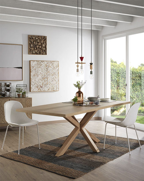 mesa de comedor de madera de diseño moderno