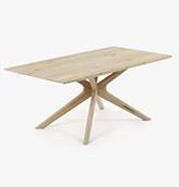 mesa de madera de estilo nórdico