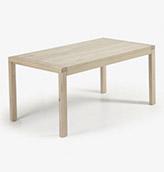 mesa extensible de madera de diseño nórdico