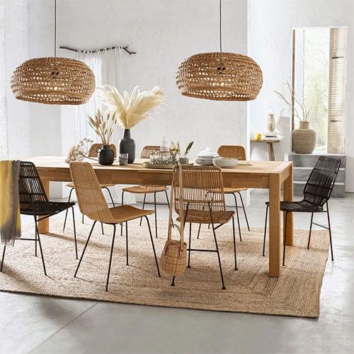mesa de madera extensible de comedor
