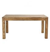 mesa de madera estilo rústico