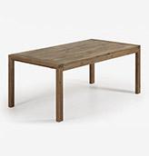 mesa de madera oscura extensible