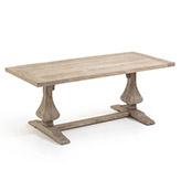 mesa de comedor de madera de olmo