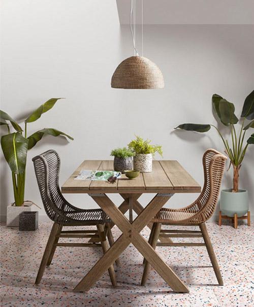 mesa de comedor rustica de madera