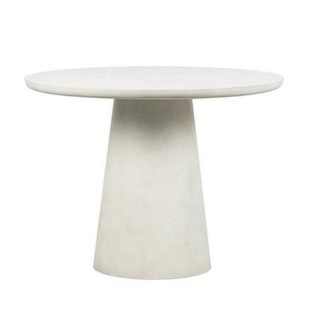 mesa redonda de cerámica