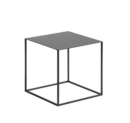 mesa sofá de metal lacado decolor negro