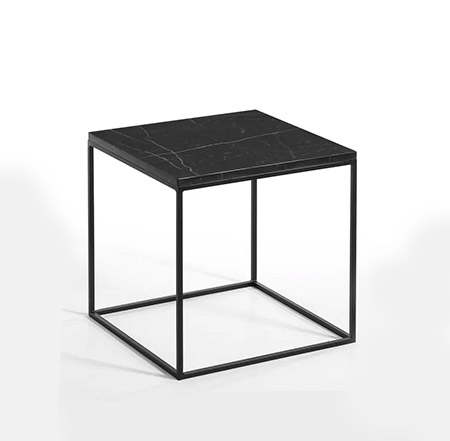 mesa esquina sofá de mármol color negro