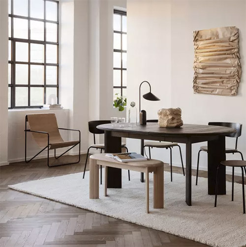 mesas de comedor extensibles de madera de estilo nórdico