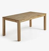 mesa extensible de madera de estilo rústico