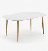 mesa extensible de color blanco