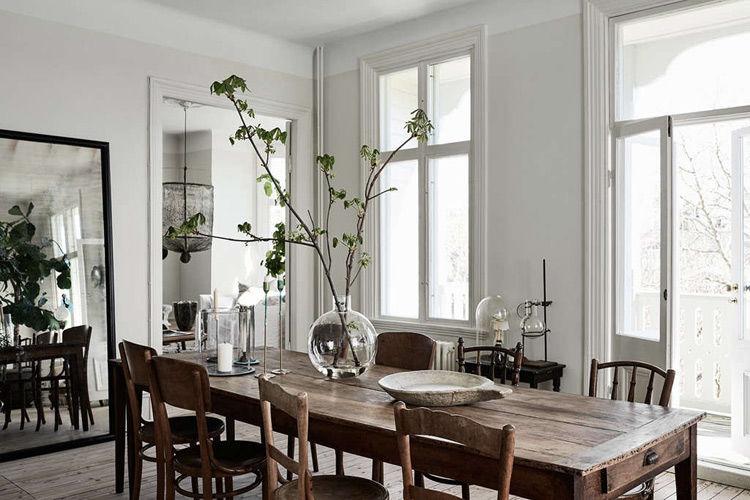 Detalles con plantas en el diseño de interiores escandinavo