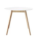 mesa redonda blanca de comedor