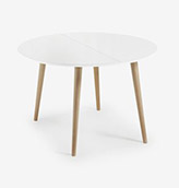 mesa de comedor redonda blanca