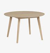mesa de madera ovalada