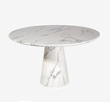 mesa de comedor de mármol redonda