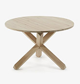 mesa redonda de madera de estilo nórdico