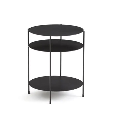 mesa auxiliar sofa de color negro