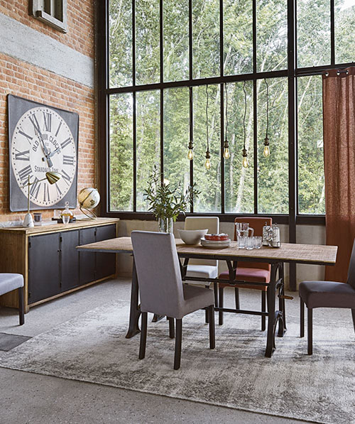 mesa de comedor extensible industrial