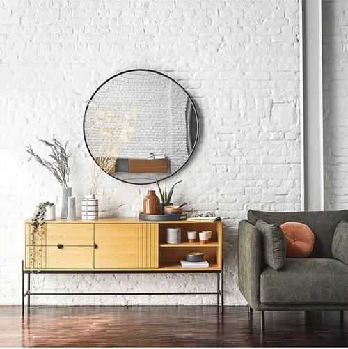 muebles de madera y metal en la decoración e lofts