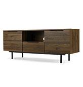 mesa TV de estilo industrial de madera