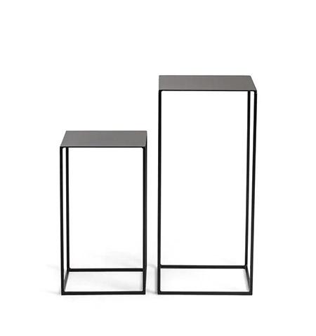 mesas altas auxilares salon de metal