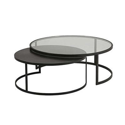mesa centro negra metal