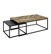 mesas de centro de estilo industrial