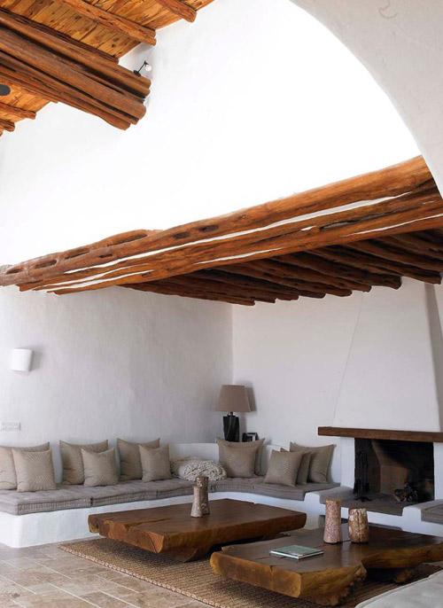 Salón de una casa mediterránea
